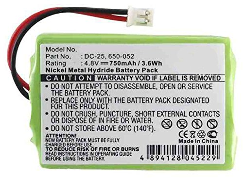 SportDOG 650-052 Replacement Battery (Ni-MH, 4.8V, 700 mAh) Replacement for Sportdog DC-25 Battery