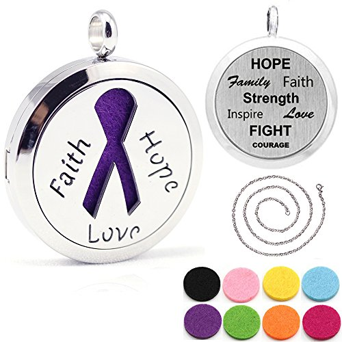 Kissreason Faith Hope Love Ribbon Design Aroma Aromatherapy Essential Oil Diffuser (Faith Design)