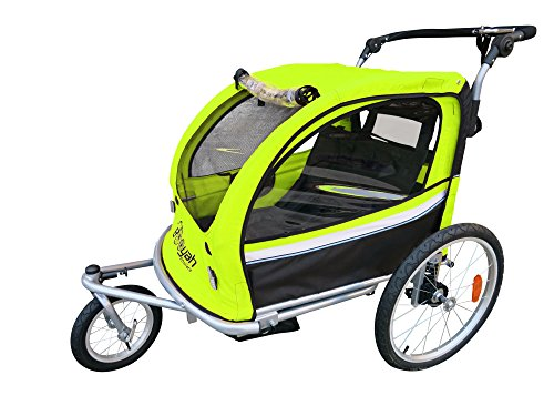 Booyah Strollers Child Baby Bike Bicycle Trailer and Stroller II (Green)
