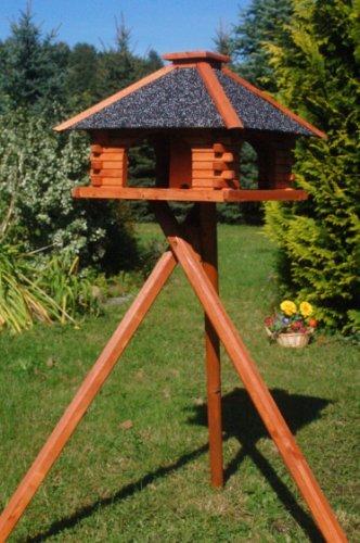 stabiles futterhaus vogelhaus mit strukturputzdach mit. Black Bedroom Furniture Sets. Home Design Ideas