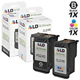 LD Remanufactured Canon PG-245 / 8279B001AA & CL-246 / 8281B001AA Set of 2 Ink Cartridges (1 Black & 1 Color) for PIXMA iP2820, MG2420, MG2520, MG2525, MG2555, MG2920, MG2922, MG2924, MG3020, MX490