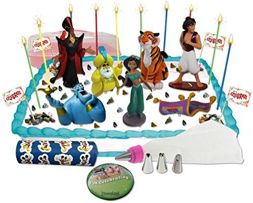 Disney Aladdin Deluxe Cake / Cupcake Topper Decorating Kit (Arabian Party Decorations)