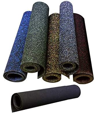 American Floor Mats 3/8in (9mm) Thick Heavy Duty Rubber Rolls, Protective Exercise Mats, Home Gym Rubber Flooring