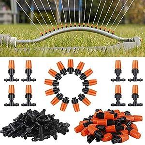 Blizzow 50pcs Drip Irrigation Kit, Adjustable Drip Irrigation Micro Spray Flow Irrigation Drippers, Garden Watering…