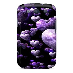 (QnGlAzt1651IkUHq)durable Protection Case Cover For Galaxy S3(purple Love)
