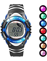 Boys Digital Sport Watch, Kids LED Electronic Waterproof...