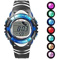 Boys Digital Sport Watch, Kids LED Electronic Waterproof Outdoor Watches Boy Running Cool Fashion Watch