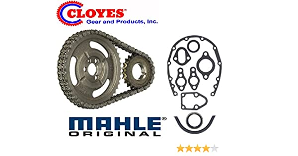 GM SBC V8 CHEVY 1965-86 5 7 283 327 305 350 383 400 HD CLOYES DOUBLE Row  TIMING CHAIN & Gasket SET (Double Row Chain)
