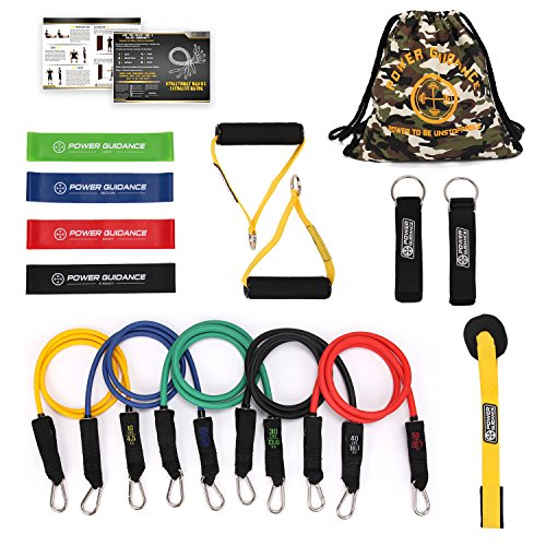 POWER GUIDANCE Resistance Bands Set, Stretch Training Set wi