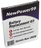 Battery Replacement Kit for Garmin Nuvi 265W with Installation Video, Tools, and Extended Life Battery.