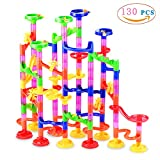 Toys : Gifts2U Marble Run Toy, 130Pcs Educational Construction Maze Block Toy Set with Glass Marbles for Kids and Parent-Child Game