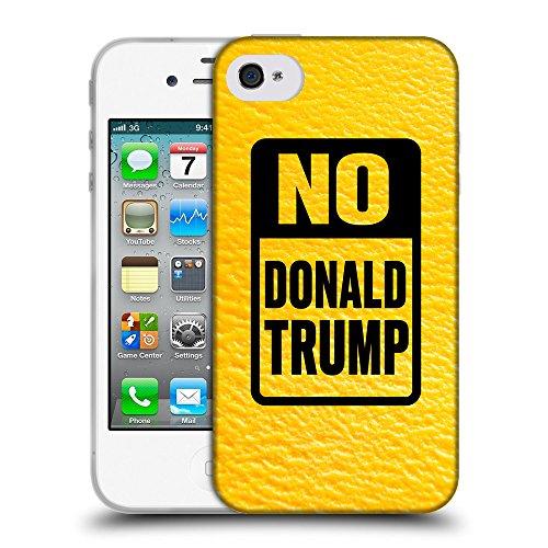 Super Galaxy Coque de Protection TPU Silicone Case pour // Q04150540 Arrêter la mangue trump // Apple iPhone 4 4S 4G