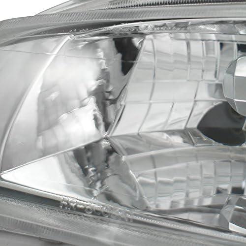 Amber Corner Lights Clear Fog Light Kit Spec-D Tuning For Honda Civic 4Dr Chrome Headlights