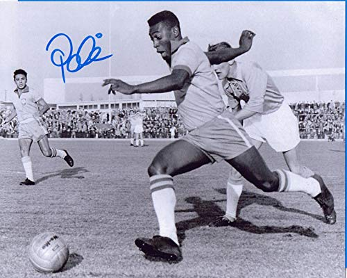 Autographed 8 X 10 Photo Pele Soccer Legend COA (8x10 Pele Autographed Photo)