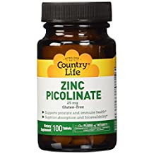 Country Life Zinc Picolinate 100 tabs