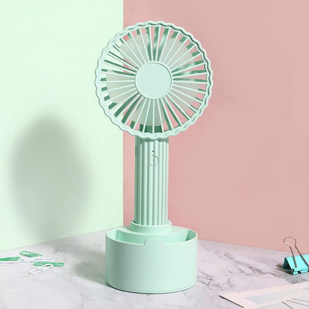 SportHome Cactus Shape Portable USB Cooling Fan Handheld Mini Fan with 3 Adjustable Speeds