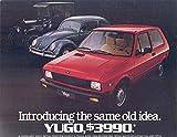 1986 Yugo USA GV & VW Beetle Brochure Fiat