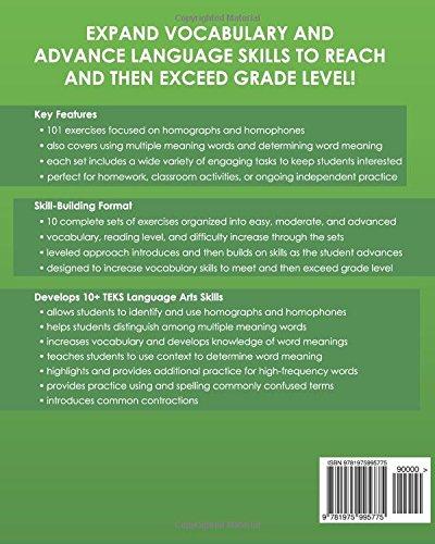 Amazon com: TEXAS LANGUAGE ARTS Vocabulary Skills Workbook