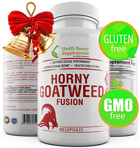 * Extreme Horny Goat Weed Fusion,for Men & Women,Libido Enhancement for Men, Female Libido Booster, Horny Goat Weed with Maca - Horny Goat Weed Extract,Panax Ginseng Powder