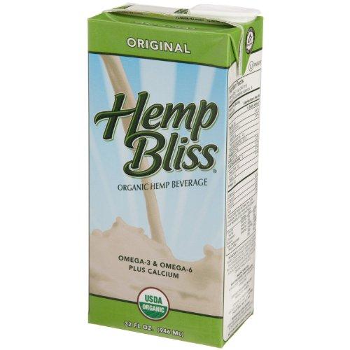 Manitoba Harvest Hemp Bliss Organic Hemp Beverage, Original, 32-Ounce Cartons (Pack of 12)