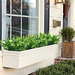 ElaDeco Artificial Boxwood (Pack of 7),Artificial Farmhouse Greenery Boxwood Stems Fake Plants and Greenery Springs for Farmhouse,Home,Garden,Office,Patio,Wedding and Indoor Outdoor Decoration 4