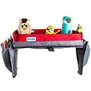 Ambabe Kids - Travel Tray - Car Seat Tray Organizer - Car Seat Travel Tray - Children Activity Tray Table - Portable Trip Accessory for Girls and Boys - Toddlers Travel Lap Tray for - Baby Play Tray