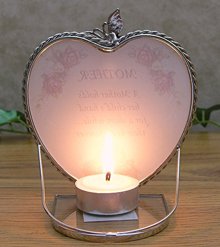 Mom Gifts Glass Heart Candle Holder A Mother Holds Her Childs