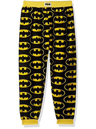 Fleece Pants Boys Pajama (Komar Kids Batman Classic Boys Fleece Pajama Sleep Pants (Large / 10-12, Yellow/Black))