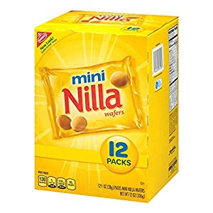 Nilla Wafers Mini Cookies 12 Count Individual Snack Bags by Grocery Test Brand
