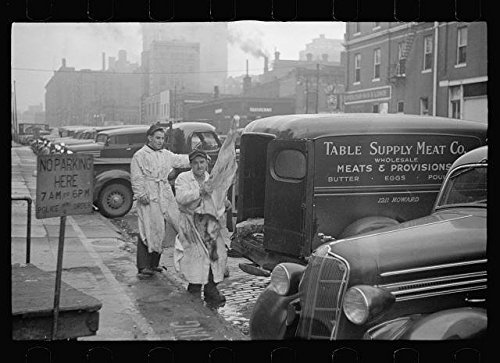Infinite Photographs Photo: Unloading Meat in Wholesale District,Omaha,Nebraska,NE,November 1938,Vachon