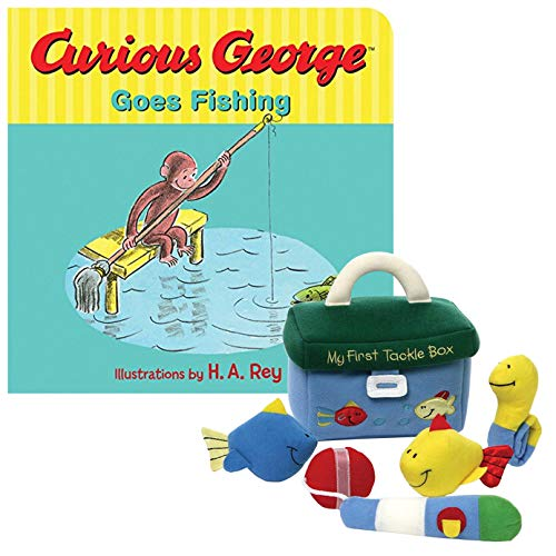 My First Tackle Box Playset Plush and Board Book Curious George Goes Fishing Set Board Books Case Pack