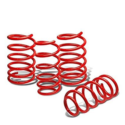 For Subaru WRX/STi Suspension Lowering Springs Set (Red) - GD GG Auto Dynasty