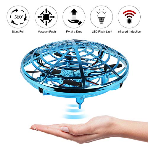 KETEP 2019 Upgrade Flying Toys Drones for Kids, Mini Drone Helicopter, Infrared Sensor Auto with 360° Rotating Hand Controlled Drone Toys for Boys or Girls (Best Flying Toys 2019)