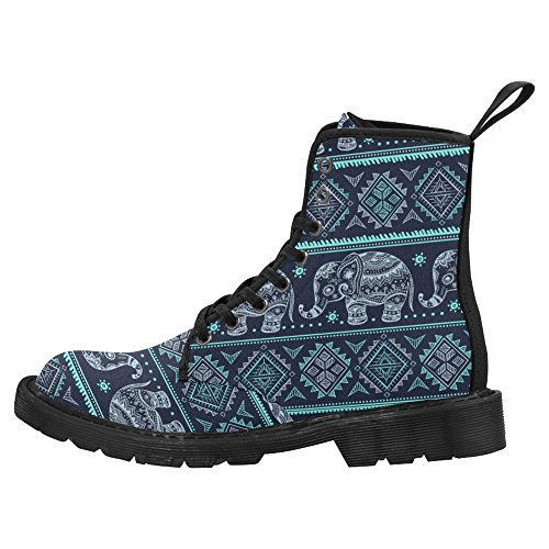 InterestPrint Womens Boots Unique Designed Comfort Lace Up Boots Multi 1 Zi1cYb