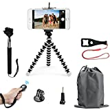 SMILEPOWO Lightweight Mini Tripod And Universal Smartphone Tripod Adapter, Phone Shutter Remote Control