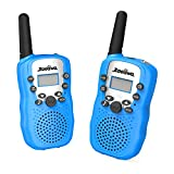 [Upgrade Generation] Handheld Walkie Talkie, Zooawa [2 Pcs] Kids Outdoor Wireless Interphone 2-Way 3.75 KM Range Durable Radio Transceiver Toy with 22 Channels for Camping and Hiking - Blue