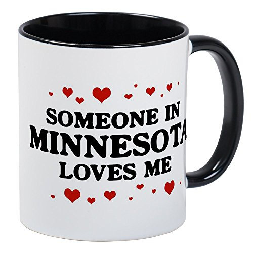 CafePress Loves Me In Minnesota Mug Unique Coffee Mug, Coffee Cup