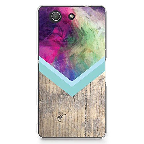 Plastic Case for Sony Z3 Compact, Abstract Colorful Wood Print PC Case Plastic Cover for Sony Xperia Z3 Compact (G22) ()