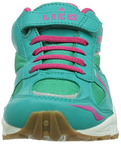 LicoBob VS - Zapatillas deportivas para interior niña turquesa - azul turquesa/rosa