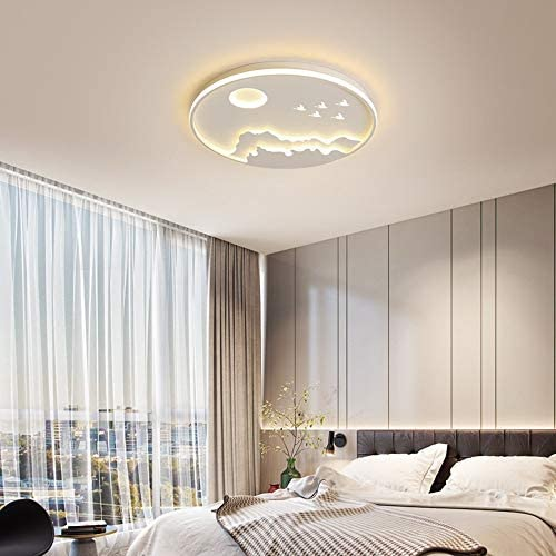 Modern Ceiling Lamp Creative LED Ceiling Lamp Tri-Tone Light Ceiling Lamp Living Room Lamp, Bedroom Lamp, Dining Table Ceiling Lamp 45W/80W (Color : White)
