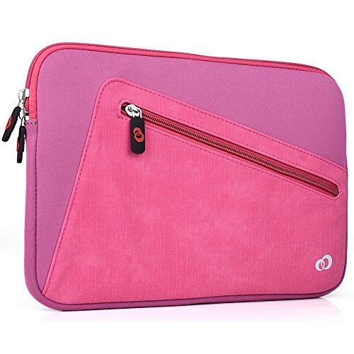 "Kroo Vortex Sleeve W/Accessory Pocket fits Polaroid 9-inch, S9, Ematic 10"" Genesis Prime XL Tablet (Tickle Me Pink Universal Case) -  EnvyDeal, ND11VXP1