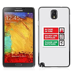 Designer Depo Hard Protection Case for Samsung Galaxy Note 3 N9000 / Emergency Message