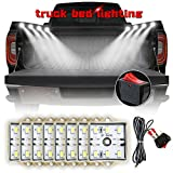 AMBOTHER 8Pcs Truck LED Bed Cargo Rail Lights Kit White Rear Tailgate Work Box Lighting Kit with 48 Super Bright LEDs Waterproof Universal for Dodge Chevrolet Ford Jeep Pickup RV SUV GMC and More