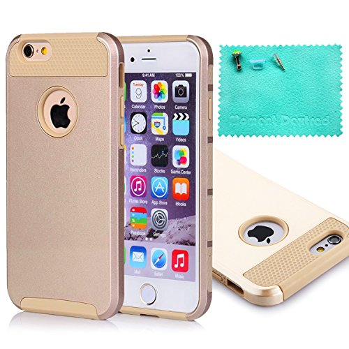iPhone 6 Plus Case,Moment Dextrad [Perfect Fit][Slim Fit] Dual-Layer Protective Case Cover Only for iPhone 6 Plus 5.5 inch{Three Months Warranty} (Champagne gold)