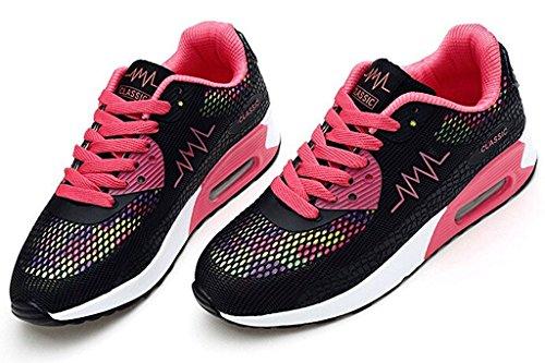 Basket Lacet QIMAOO Gym Jogging Femme Sneakers Chaussures à Respirant Course pour de Sport q5wAtHTwxS