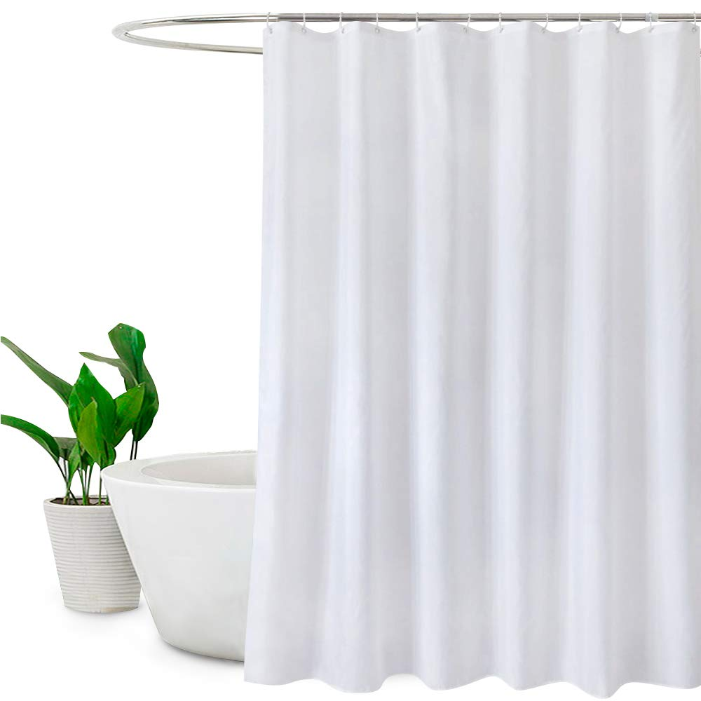 Shower Curtains.White Shower Curtains Mould Proof And Mildew Resistant Extra Long Shower Curtain Liner 180 X 200cm Drop 72 X 78 Inch 100 Polyester