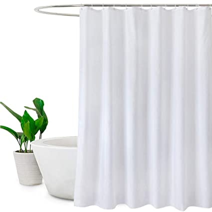 White Shower CurtainsMould Proof And Mildew Resistant Extra Long Curtain Liner 180 X 200cm Drop72 78 Inch100 Polyester Amazoncouk Kitchen