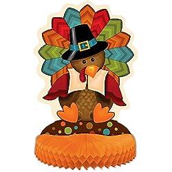 """14"""" Cute Turkey Thanksgiving Centerpiece Decoration"""