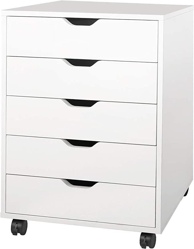 White Dresser with 5 Drawer Chests by DEVAISE [cb2 dresser]