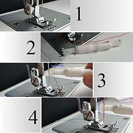 Enhebrador de agujas para máquina de coser, para enhebrar el hilo ...